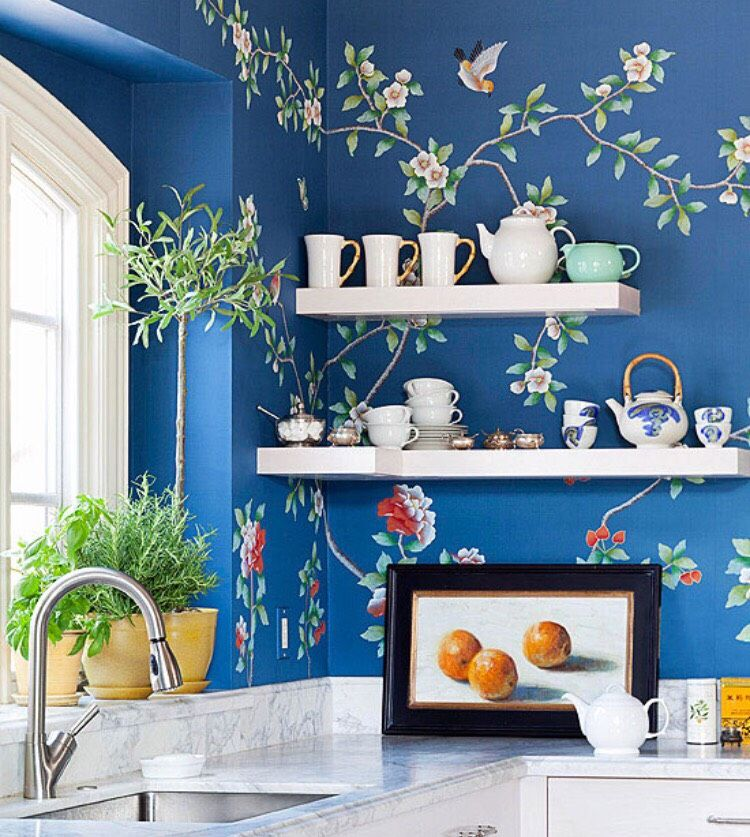 Incredible Accent Wall Ideas. | Kitchen wallpaper, Home ...