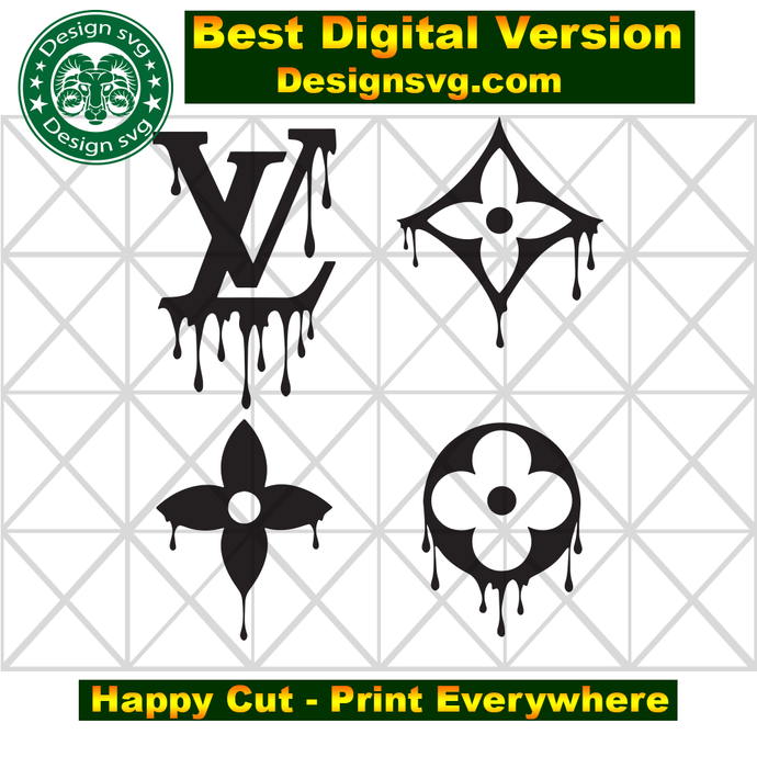 Louis Vuitton Svg Lv Bundle Brand Logo Svg Louis Vuitton Pattern Cricut File Digital Download By Bibishop In 2020 Louis Vuitton Pattern Sticker Art Diy Canvas Art