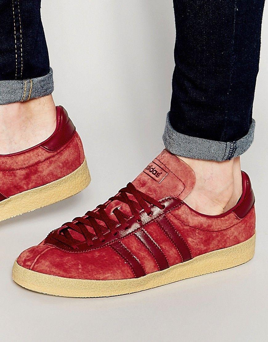 adidas originals topanga chaussures sneakers hommes daim bordeaux s75502