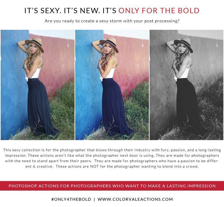 Photoshop Actions - This sexy collection is for the photographer that blows through their industry with fury, passion, and a long-lasting impression. #photoshop #photography Photoshop Actions by Colorvale