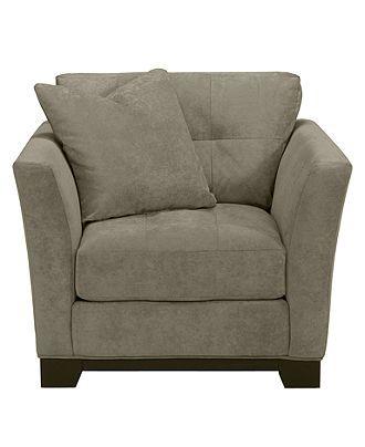 "elliot fabric microfiber living room chair, 42""w x 37""d x 29""h"
