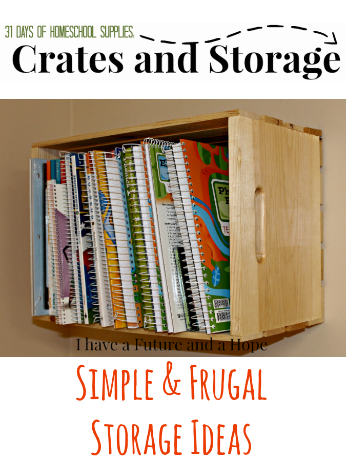 31 Days of Homeschool Supplies Crates and Storage ideas. Organize your homeschool room.  sc 1 st  Pinterest & Crates and Storage: 31 Days of Homeschool Supplies | Homeschool ...