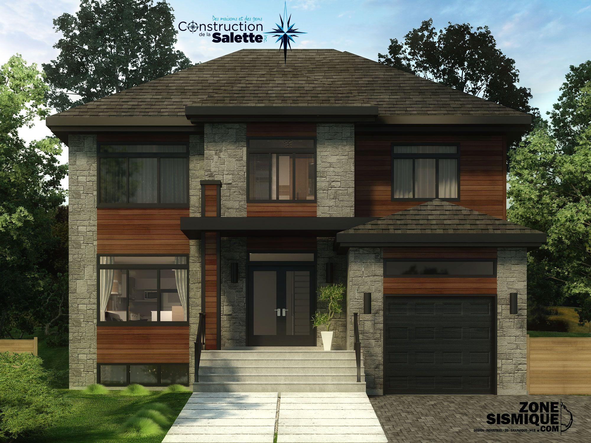 maison 3d pour construction de la salette - Construction De Maison En 3d