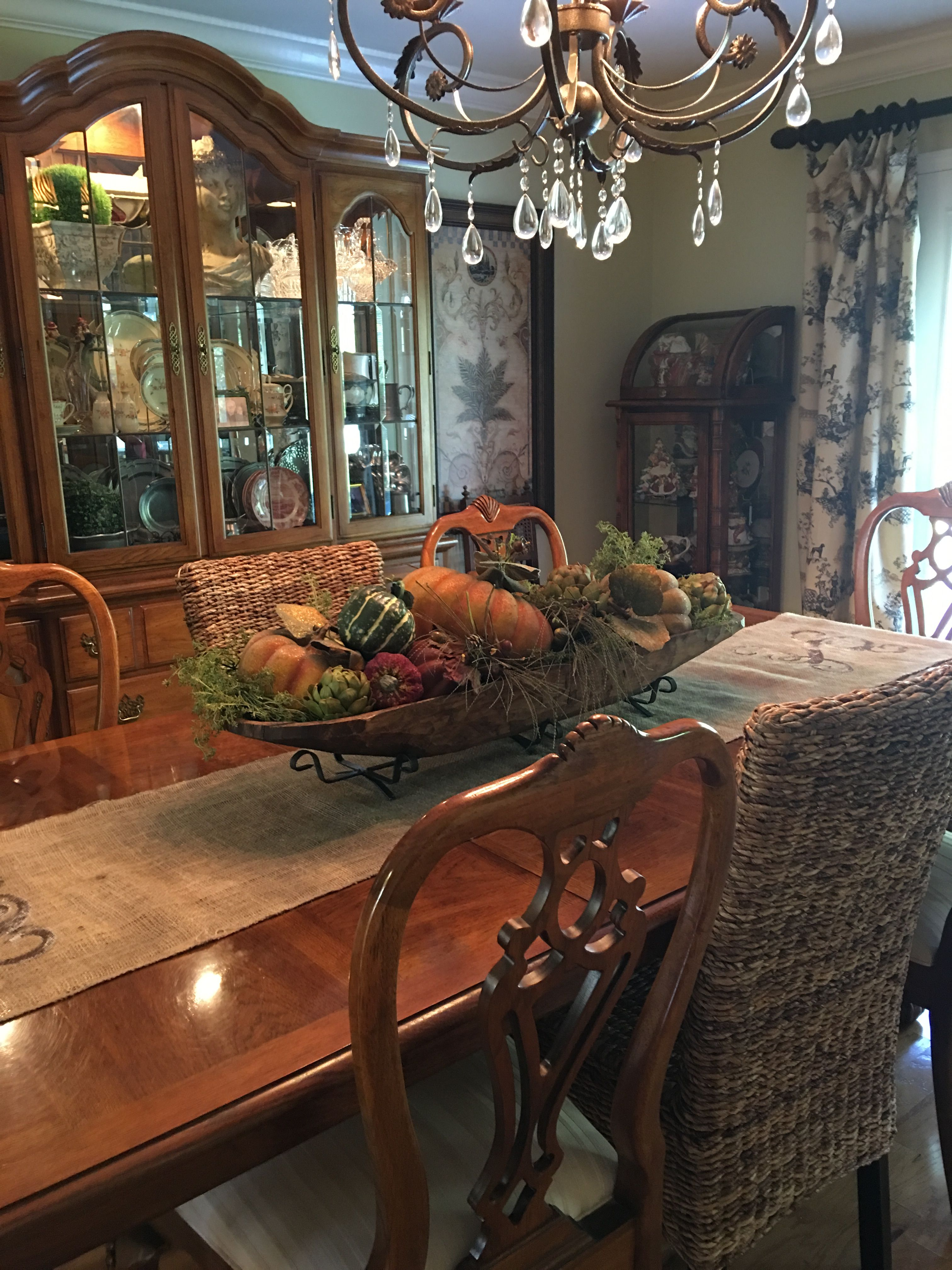 Fall Dough Bowl Dress Up Dining Room Table Centerpieces Fall