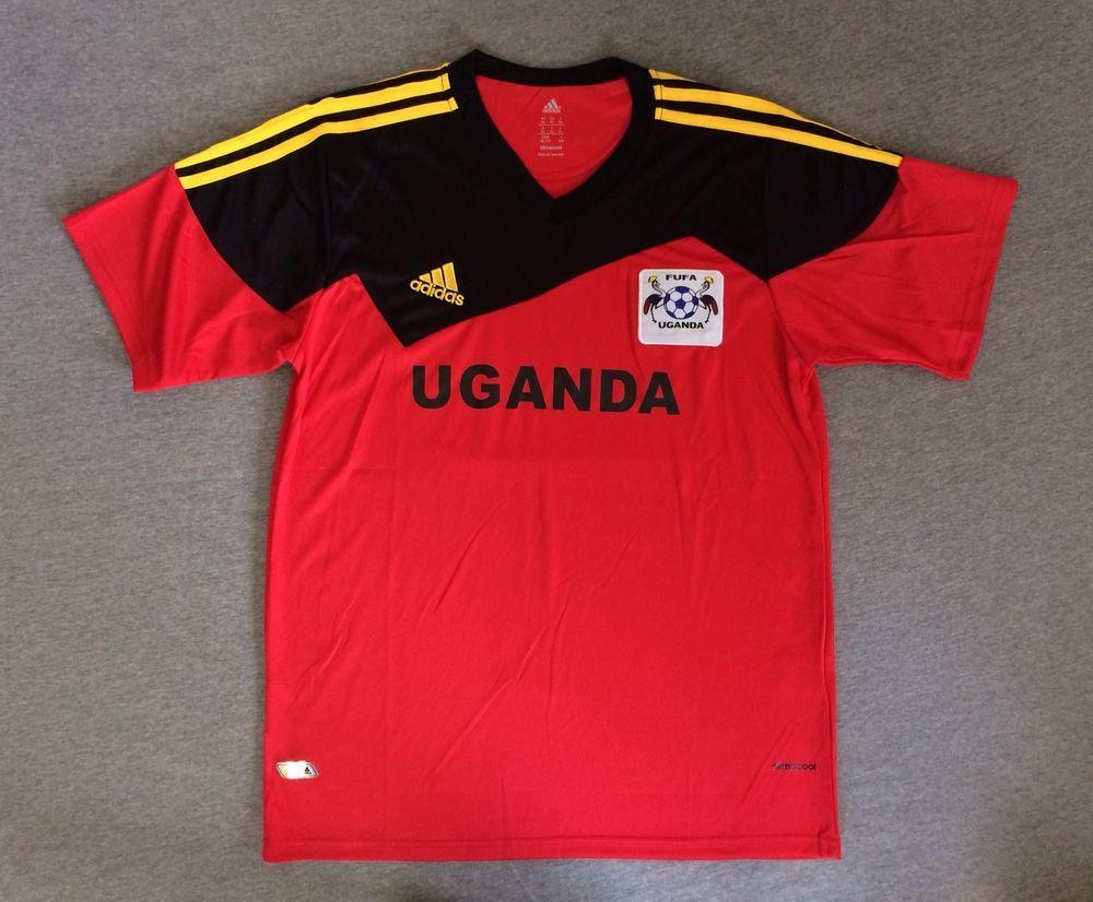 f40356ada7bd6 ADIDAS CLIMACOOL Jersey FUFA Soccer Fútbol Uganda Cranes Shirt RARE ...