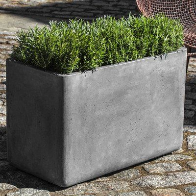 To Contain Rosemary Urban 2 Piece Rectangular Planter Box Set Campania Intern Rectangular Planter Box Window Planter Boxes Rectangular Planters