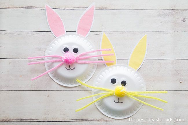 Paper plate easter bunny craft bunny crafts easter bunny and