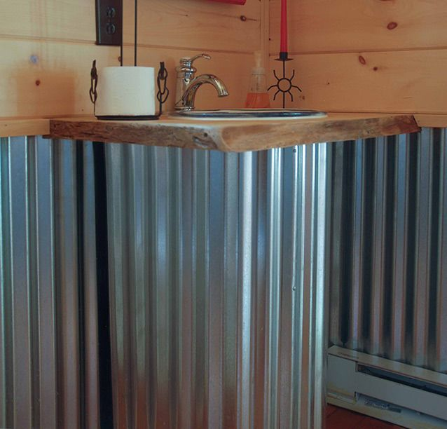 What 39 s next galvanized walls in the bathroom - Using corrugated metal for interior walls ...