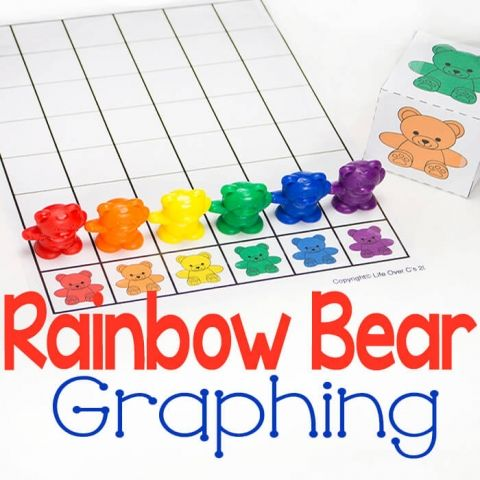 Rainbow Bear Graph For Colors Free Printable Preschool Activities