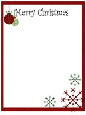 Printable Christmas Stationery to Use for the Holidays: Me Making ...