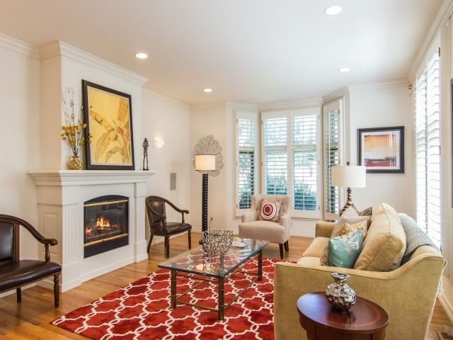 After Staging by ~ My Inside Designer This #Cherry Creek Townhouse is filled with classic style that will have buyers in a bidding war!