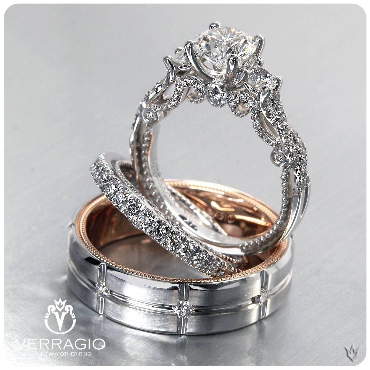 The Beautiful Verragio Insignia 7074r 0426w Men S Wedding Ring Vw