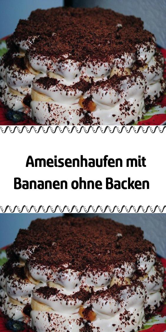 Ameisenhaufen mit Bananen ohne Backen #einfachernachtisch