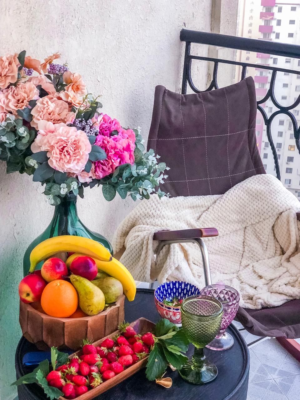 Balcony for summer #coYbymadi #cozydecor #cozydecorations #balcony #balconydecoration #cozy
