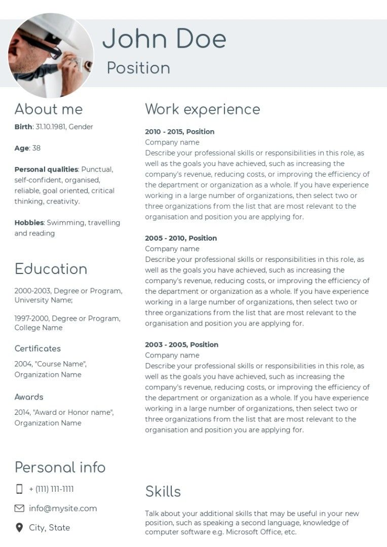 33+ Electrician resume sample download Examples