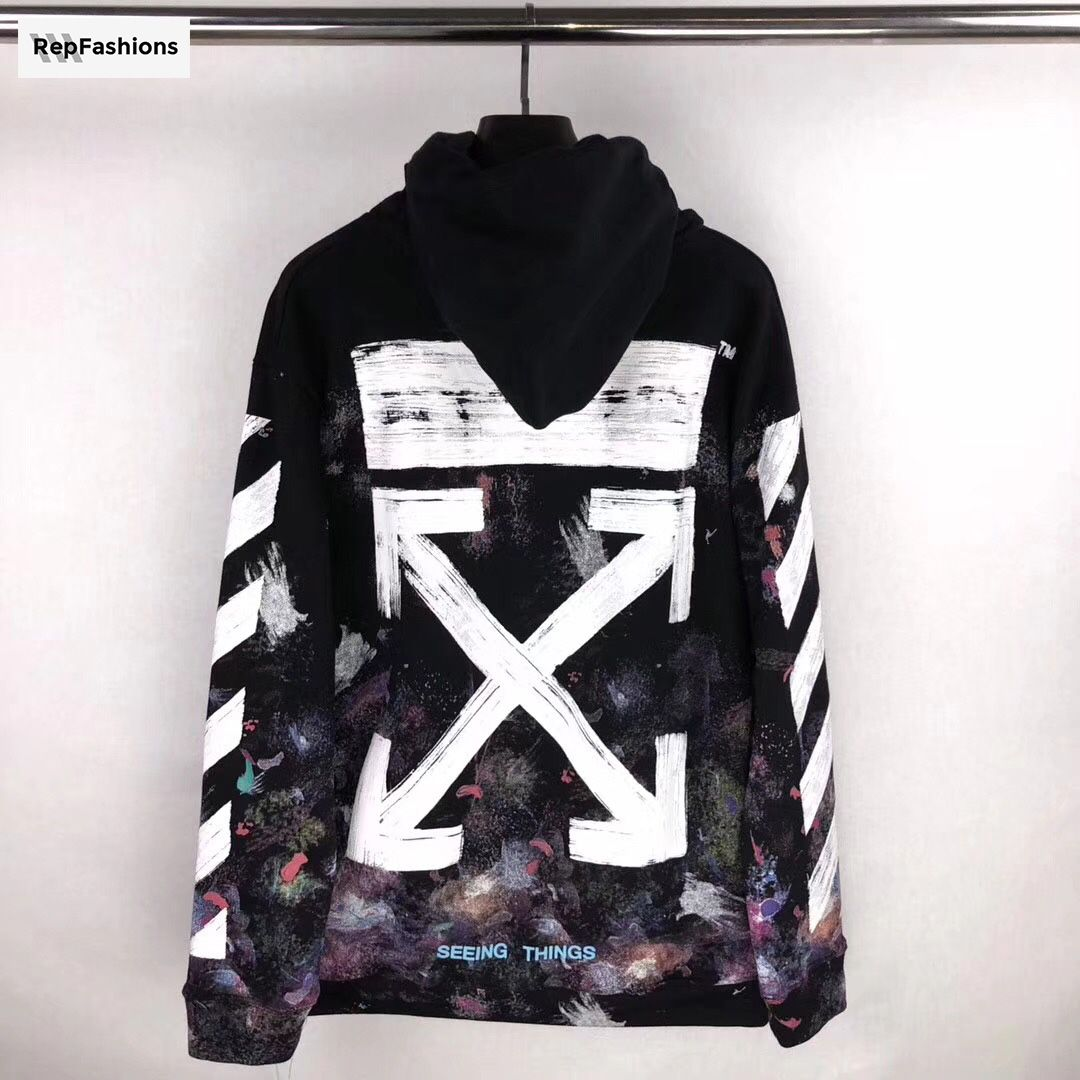 Off White Galaxy Brushed Hoodie Repfashions Galaxy Hoodie Off White Streetwear Fashion