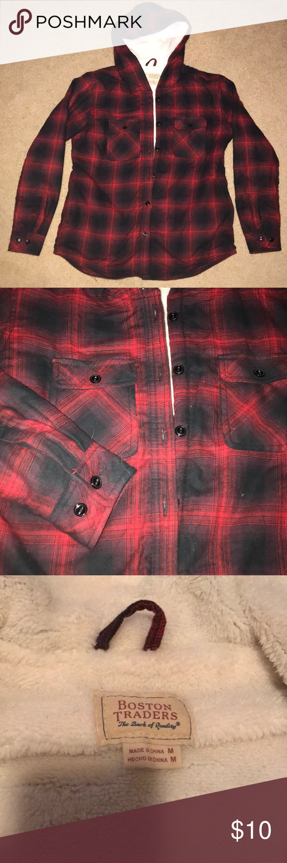 Flannel jacket with fur inside  NWOT Fur Lined Flannel  My Posh Closet  Pinterest  Flannels Fur