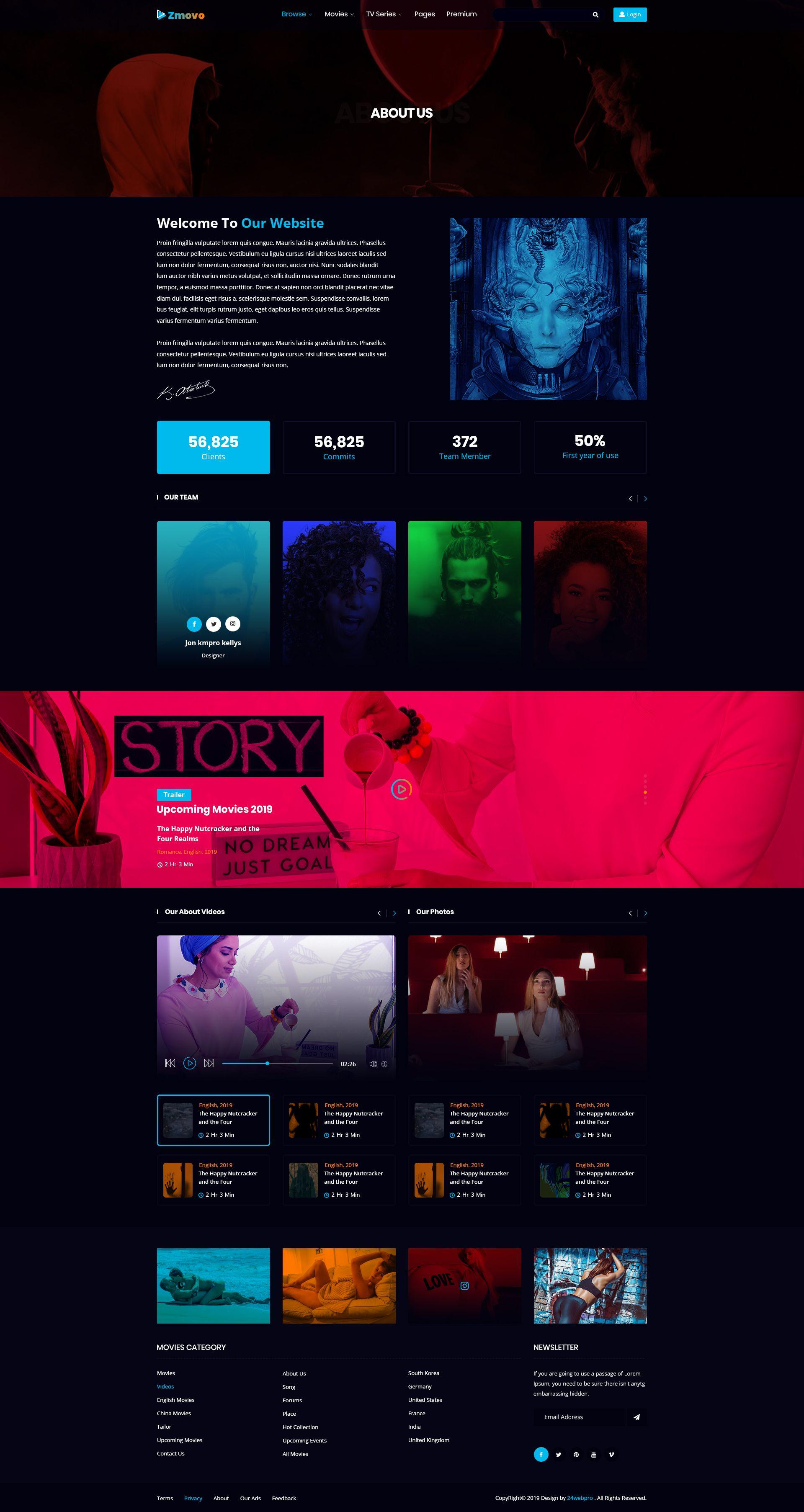 Zmovo Online Movie Video Tv Show Psd Template Tv Shows Psd Templates Movies Online