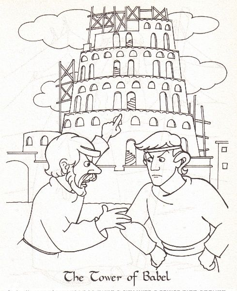 tower of babel color sheet Preschool Bible Christian Life