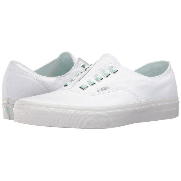 cb70c951c9 Vans Authentic Gore ((Two-Tone Studs) True White True White) Skate... ( 40)  ❤ liked on Polyvore featuring shoes