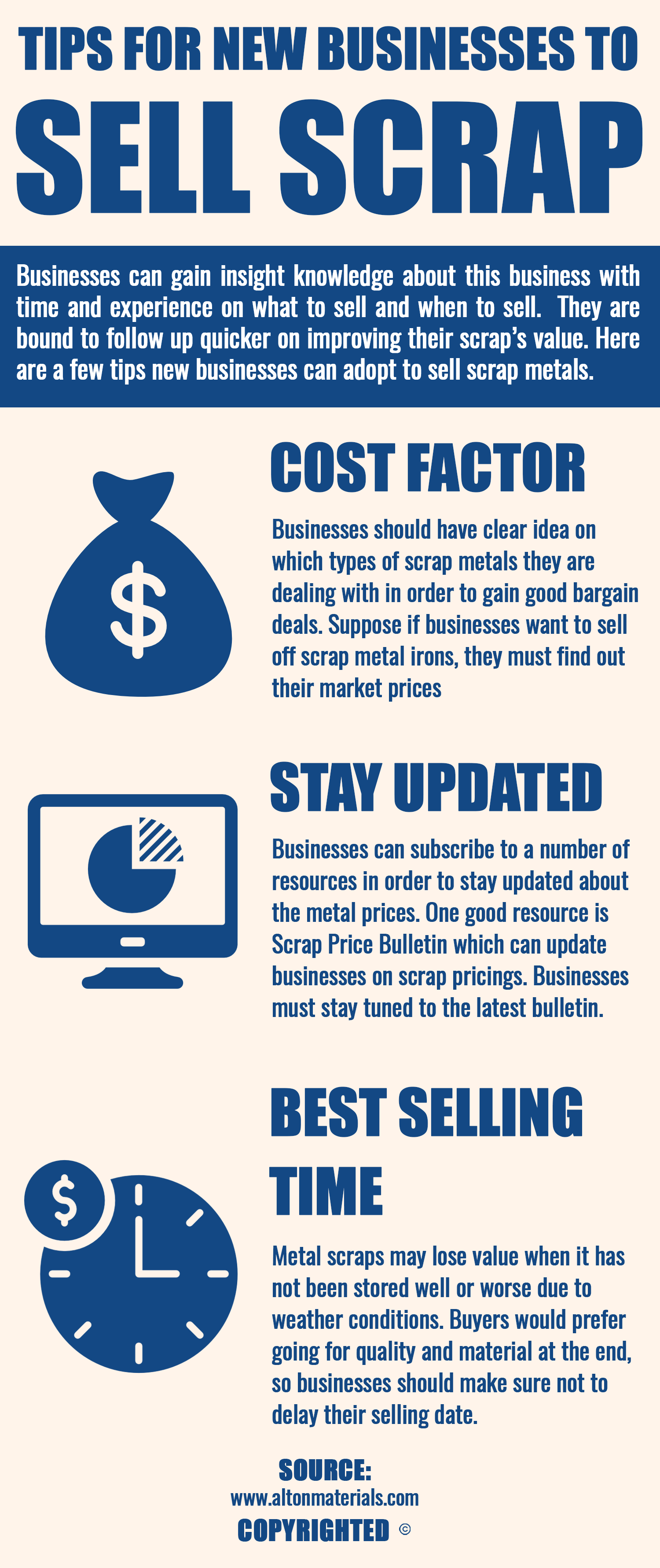 There are few tips for new businesses to sell their scrap materials ...
