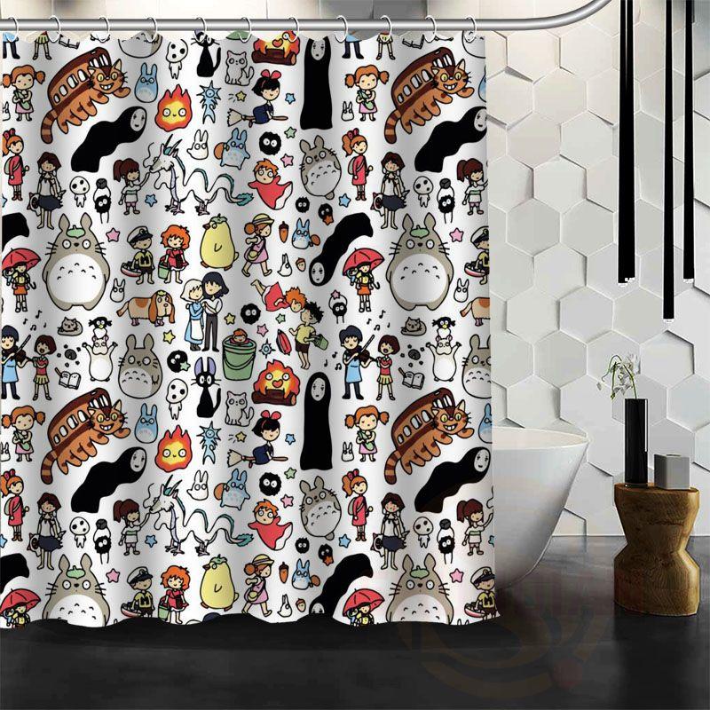 Totoro Shower Curtain Bathroom Decor Bath Curtain Free Shipping