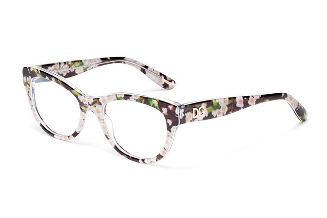 acba9a1b96 Women s flowers and black acetate glasses with cat-eye frame by Dolce    Gabbana almond flowers dg3203