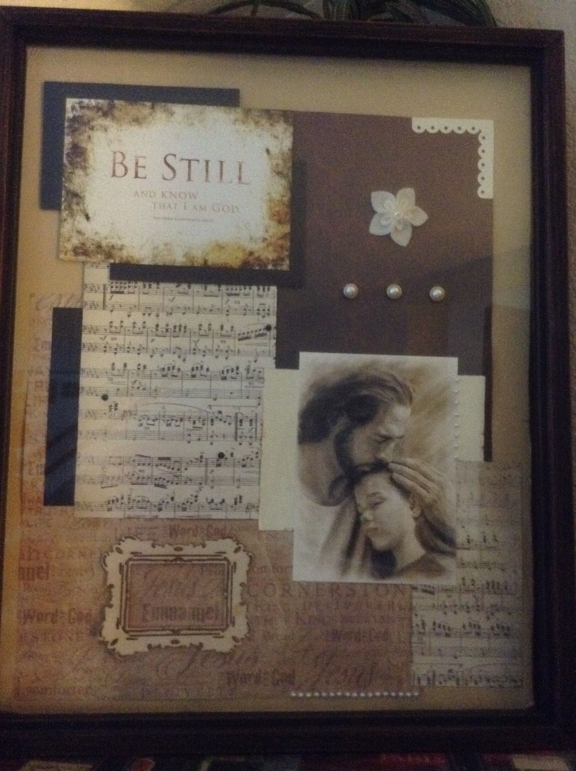 Be Still And Know That I Am God Photo Frame Crafts Pinterest