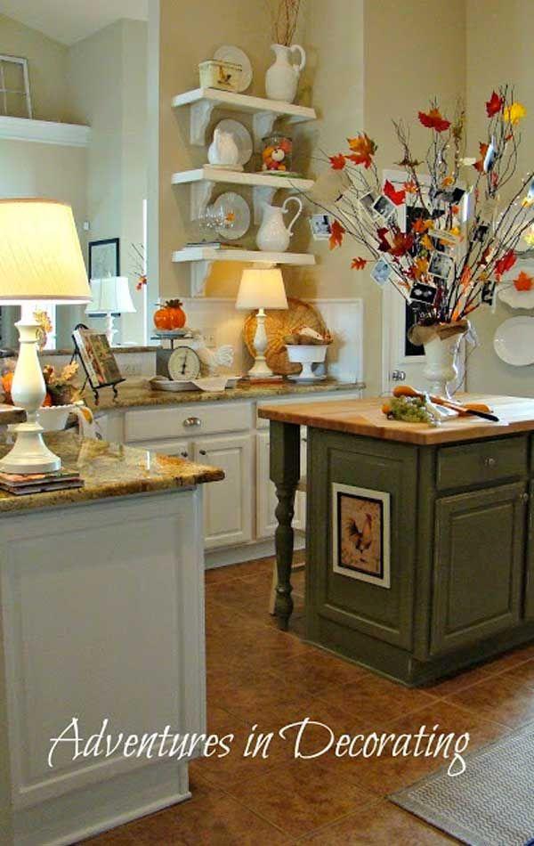 Decorazione cucina: 35 idee per una decorazione autunnale