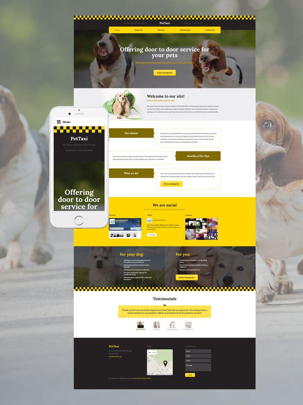 Pettaxi Website Template Website Template Website Template Design Templates