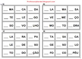 A Arte De Aprender Brincando Bingo Das Silabas Reciclado Bingo De Palavras Bingo Jogos Para Alfabetizar