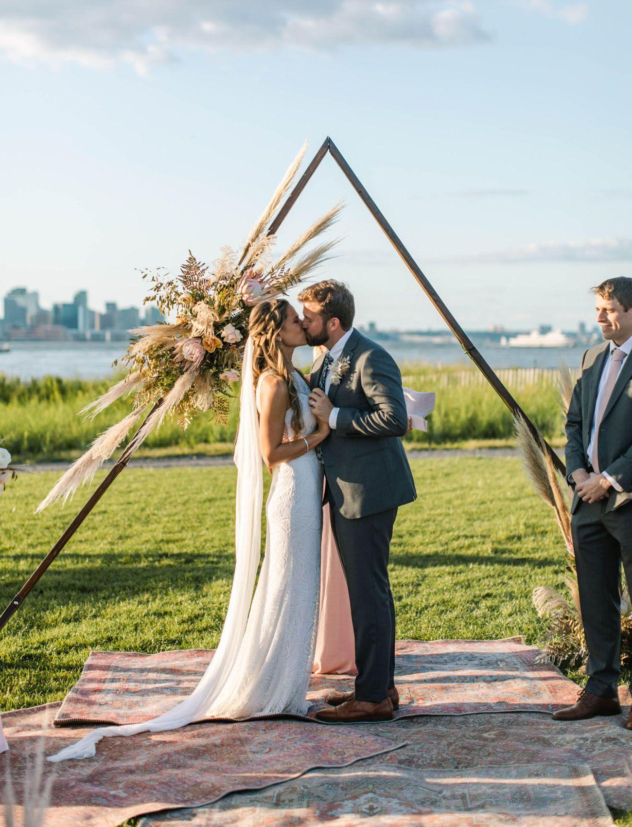 A Boho Glamping Wedding With Views Of The Manhattan Skyline