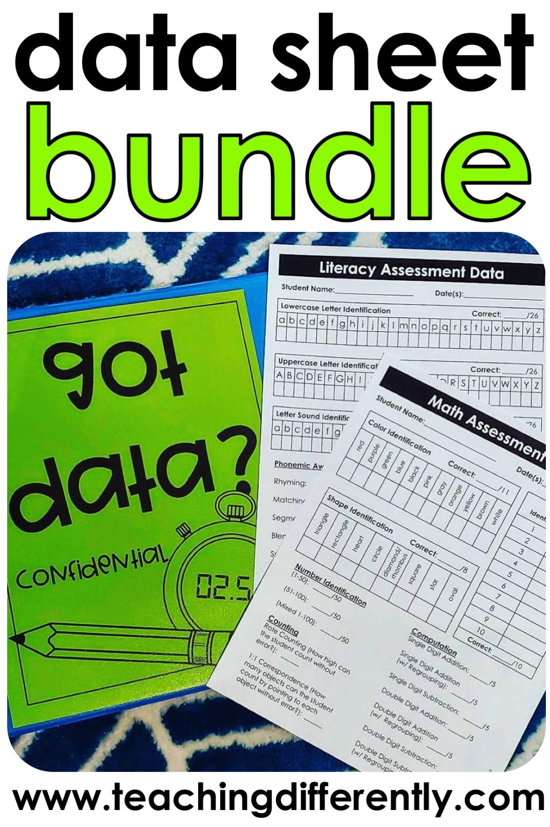 Special Education Data Sheet Growing Bundle