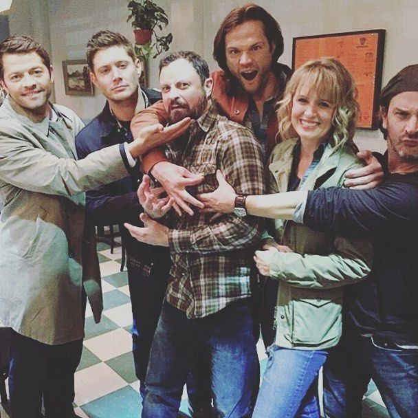 A typical Supernatural cast photo