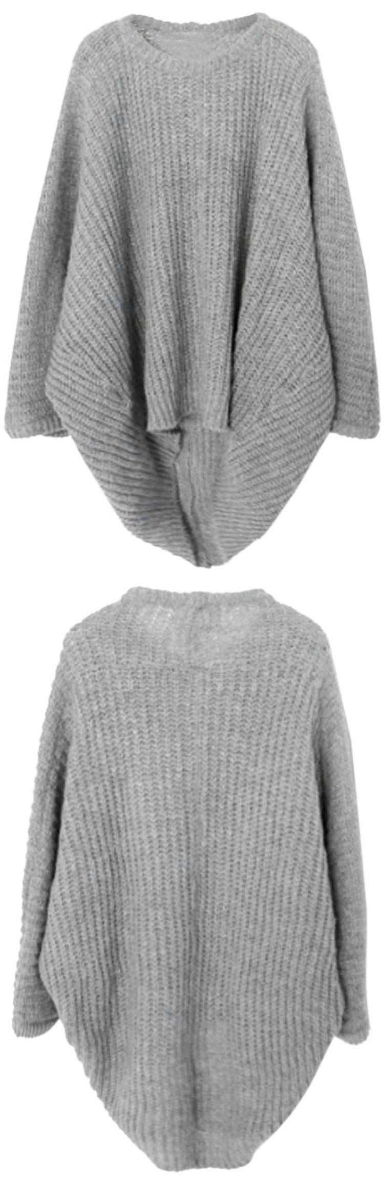 Must-have wrap style to have with $24.99 Only+easy return+free shipping! This high low sweater is just made for this coming day! Go get it at Cupshe.com