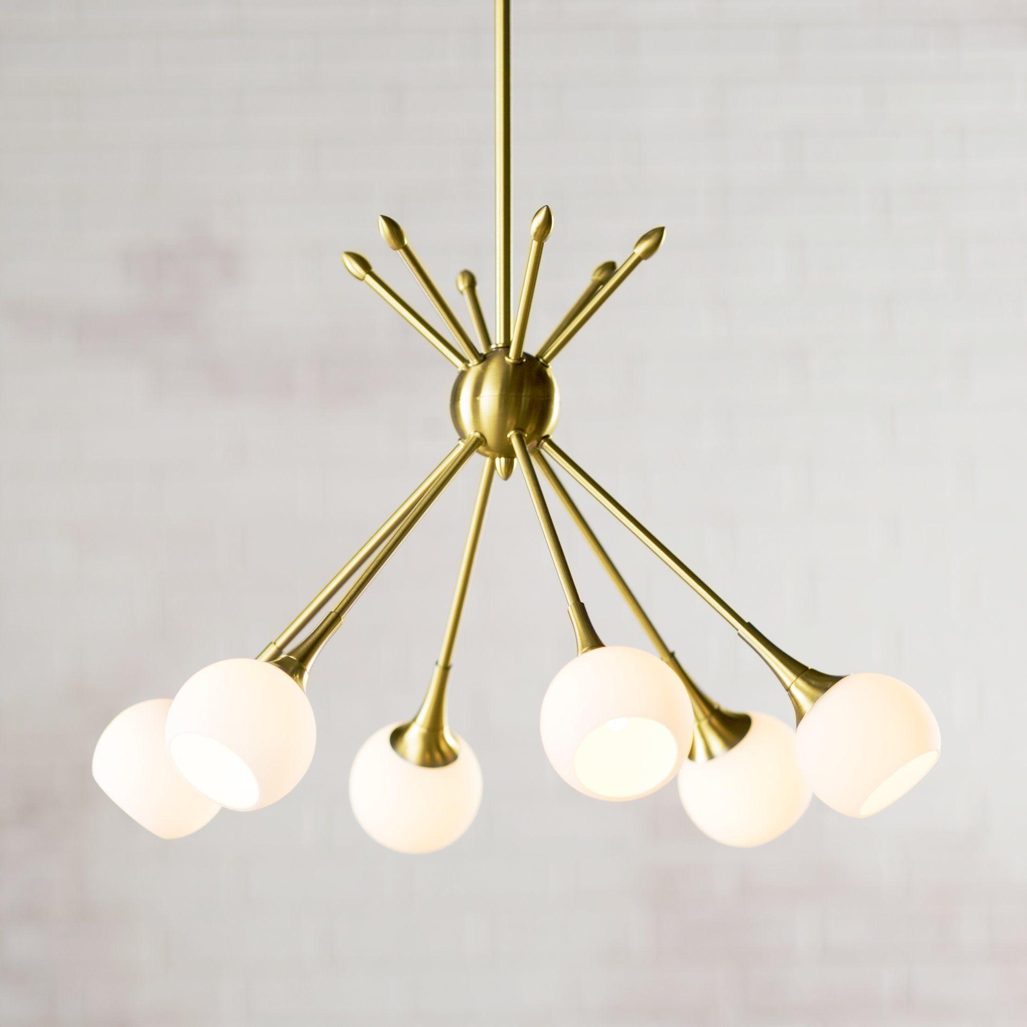 Gladys 6 light sputnik chandelier new house pinterest small drexler 6 light sputnik chandelier arubaitofo Images