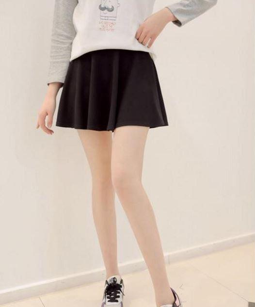 9261a544689 Moderní dámská krátká sukně černá – SLEVA 50 % + POŠTOVNÉ ZDARMA Na tento  produkt se