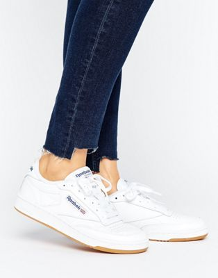 7ebe183c047 Reebok Club C 85 Sneakers With Gum Sole
