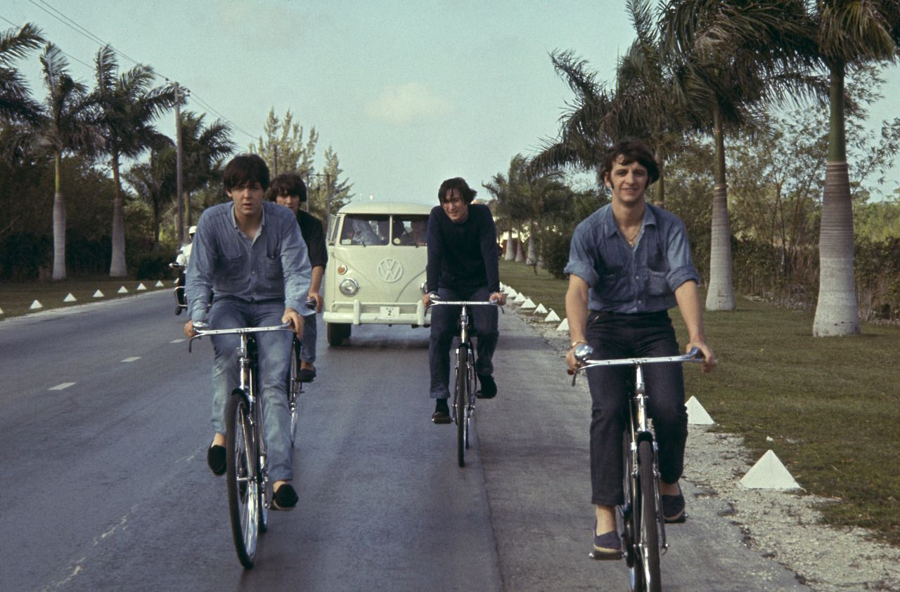 Is that a storm trooper riding a moped behind Paul's left shoulder?!? xD