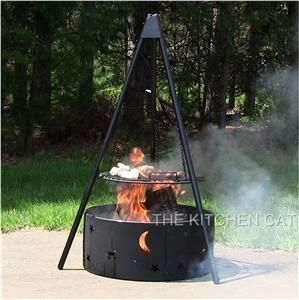 Camping Fire Pits Outdoor Cooking Grate Fire Ring Set Outdoor Pit Grill Camp Camping Hunting Fire Pit Bbq Fire Pit Grill Grate Fire Pit Backyard