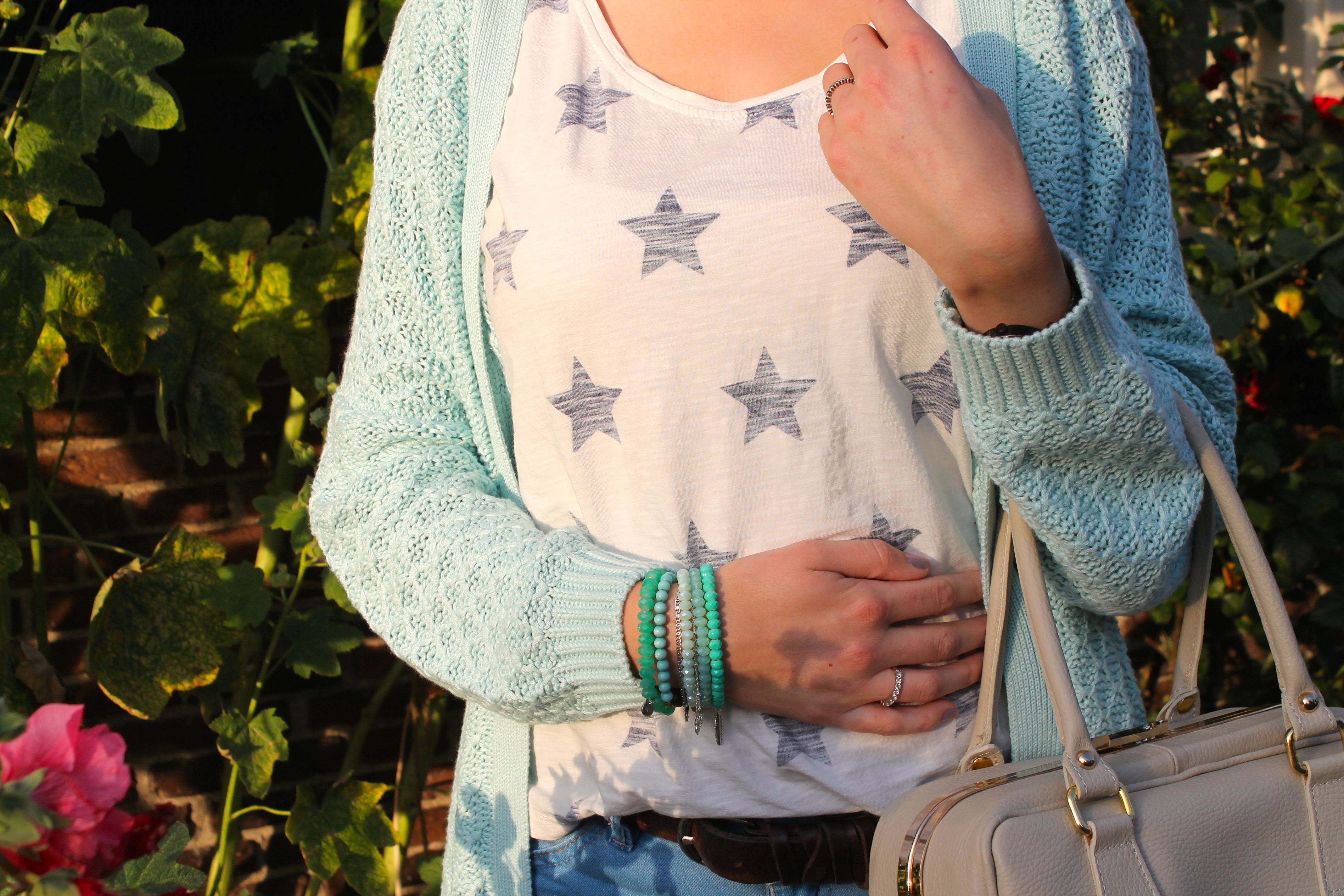 Outfit of the day - Mint groen - sterren. www.diolifestyle.nl