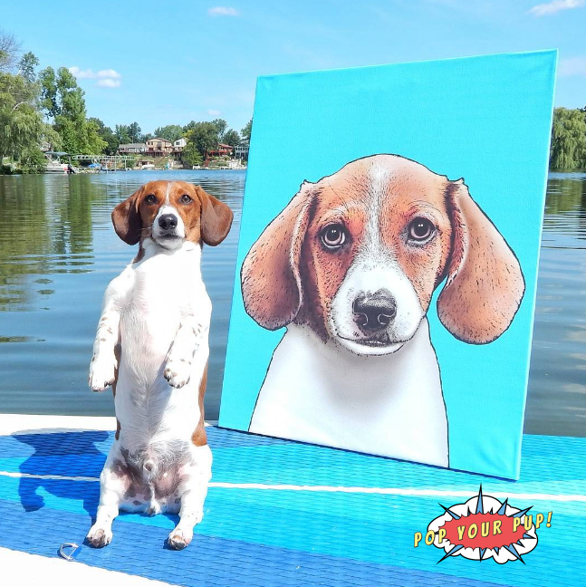 Custom Artwork Of Your Pet #homedecor #artwork #customart #popyourpup