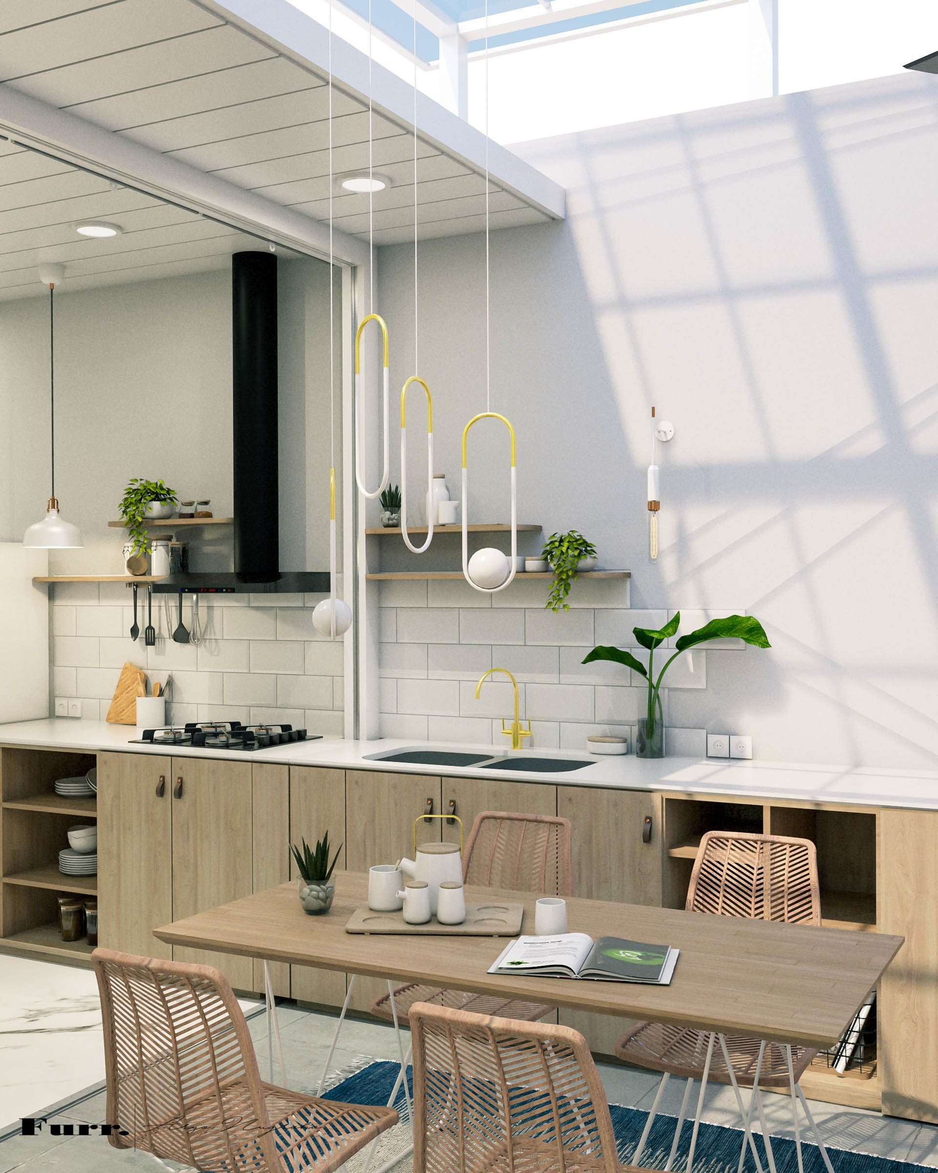Interior projects for small house in bogor west java indonesia by furr design