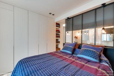 Scheidingswand Voor Slaapkamer : Industriële scheidingswand tussen slaapkamer en badkamer