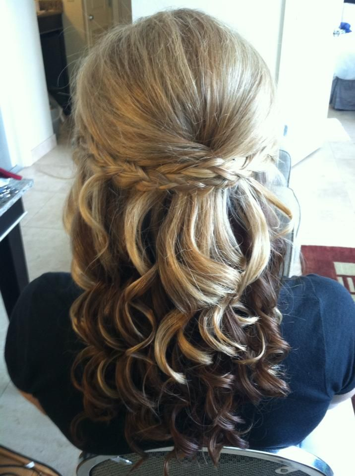 I like this braid concept- maybe we could modify it a little and have our hair up instead of down like in the pic?