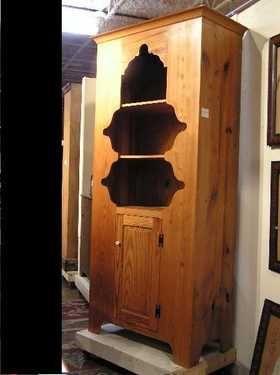 194 Primitive Pine Cupboard Cupboard, Primitive