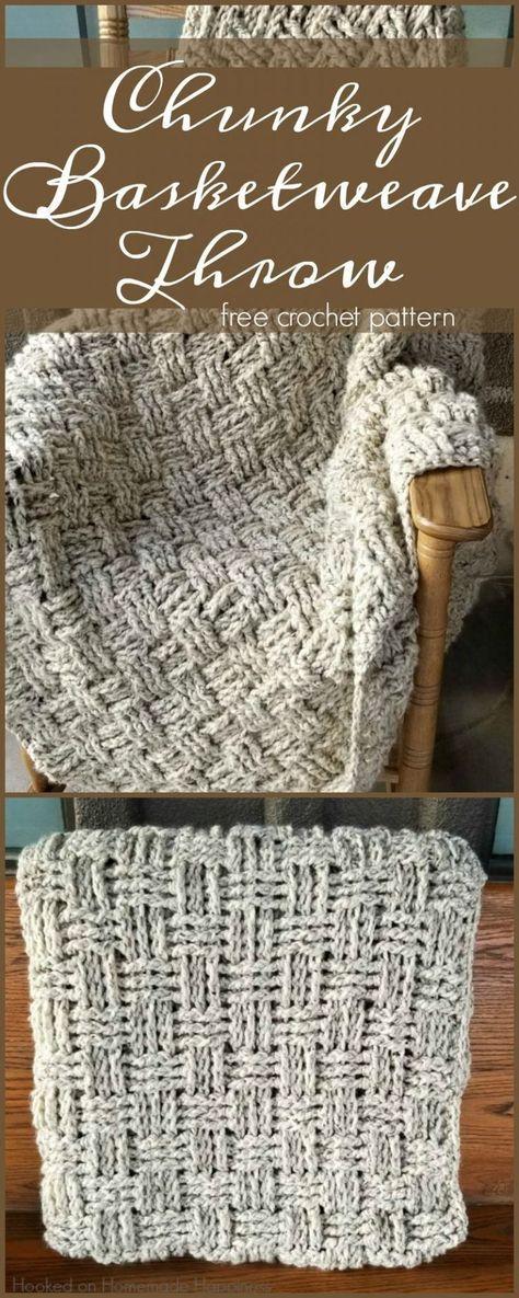 Chunky Basketweave Throw Crochet Pattern | Crochet fanciments ...