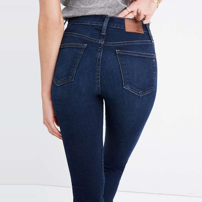 Madewell 10-Inch High-Rise Skinny Jeans #rankandstyle