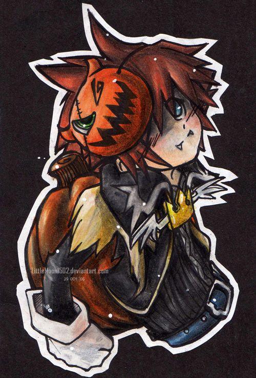 sora kingdom hearts halloween - Roxas Halloween Town
