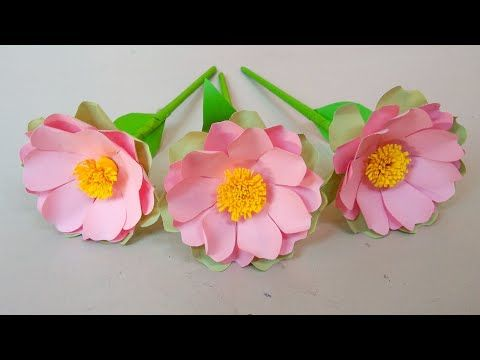 How to Make Paper Flowers - Very Easy Paper Flower Step By Step